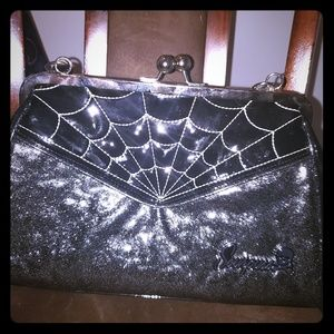 Sourpuss Spiderweb Purse